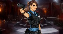 police girl pointing a gun Frisky Business CG Gallery